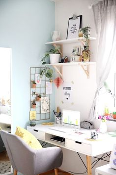 Home Office mit vielen DIY Deko Ideen kreativ se .. - CLICK PIN for More Bedroom Decor Pics. #bedroomdecor #bedding