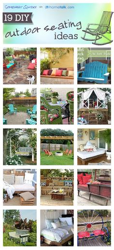 Somewhat Quirky..19 outdoor seating ideas