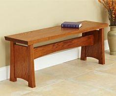 Seating Bench Woodworking Plan, Furniture Seating