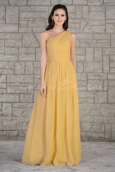 #85200 - Floor-Length A-Line Chiffon Dress with Zipper - Bridesmaid Dress - Simply Bridal