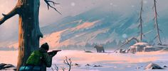 Hunting, Andrei Kotnev on ArtStation at https://www.artstation.com/artwork/bbRgv