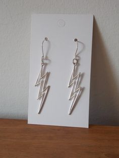 Sterling Silver Earrings with an Outline of a by MalieCreations, $59.95