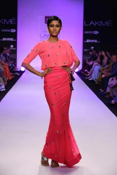http://www.NeetaLulla.com/ SS14 Saree Collection at Lakme Fashion Show Summer/Resort 2014