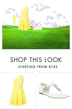 """""""easter is coming"""" by amo0522 ❤ liked on Polyvore featuring Monique Lhuillier and Michael Kors"""