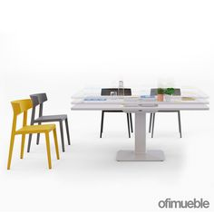 Las mesas elevables son una realidad adaptada a las necesidades de las oficinas modernas, y en #Ofimueble contamos con el privilegio de tenerla en nuestro catalogo de productos. Dining Table, Furniture, Home Decor, Modern Offices, The Office, Products, Mesas, Trendy Tree, Dinning Table