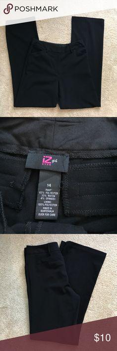 Girl's Black Dress Pants iZ Byer 14 Worn a handful of times for orchestra concerts! EUC! Iz Byer Bottoms