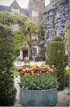 I'd live to sit on a bench and have a cup of coffee in this garden!!