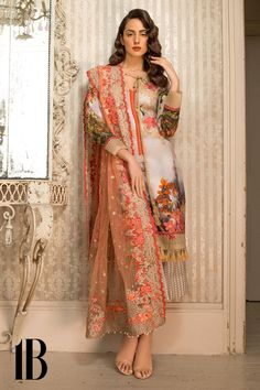 *** *Sobia Nazir lawn ******* *most hit design****Sobia nazir lawn embroidered suit with chiffon embroidered duppata master replicaFront full printed & embroideredFront neck embroidery bunchDaman embroidery borderBack PRINTEDPRINTED law. Pakistani Dresses Online, Pakistani Outfits, Indian Dresses, Indian Outfits, Pakistani Party Wear, Pakistani Couture, Ethnic Fashion, Asian Fashion, Nikkah Dress