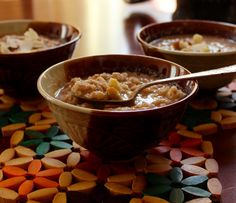 30 calories for an entire bowl of rice pudding. I think my favorite dessert in the entire world is kheer. Kheer is Indian rice pudding flavored with cinnamon and masala spices, usually made with co...
