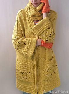 Crochet Coat, Crochet Cardigan Pattern, Knitted Coat, Crochet Clothes, Knitting Paterns, Knit Patterns, Knitwear Fashion, Crochet Fashion, Crochet Circles