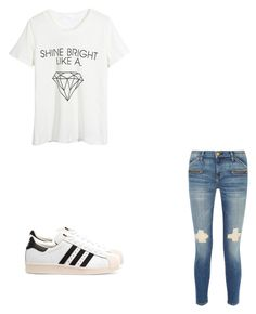 """""""Untitled #49"""" by princxssb on Polyvore featuring WithChic, Current/Elliott and adidas Originals"""