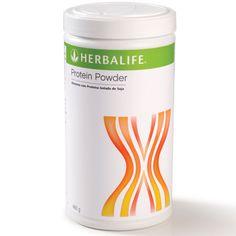 Alimento com Proteína Isolada de Soja O Pó de Proteína da Herbalife é sem sabor para ser adicionado ao shake e a outros alimentos e bebidas. Agora em potes de 240 g e 480 g! Aproveite! Livre de gorduras, açúcar e carboidratos, o Pó de Proteína é uma excelente opção para suplementar as necessidades de proteína do organismo: uma colher de sopa (6 g) fornece 5 g de proteínas e 22 calorias; Possui proteínas de alto valor biológico, contém os aminoácidos essenciais.
