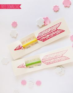 Valentine pencil printable via howaboutorange
