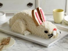 Easter Bunny Cake: Celebrate Easter with this cute coconut-topped bunny cake. It's easy to make with our step-by-step guide.