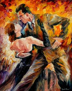 Classical tango - PALETTE KNIFE Oil Painting On Canvas By Leonid Afremov #AfremovArtStudio #afremov #art #painting #fineart