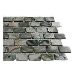 Splashback Tile Pitzy Brick Donegal Gray Pearl Glass Tile Mini Brick  Pattern Glass Floor And Wall Tile   3 In. X 6 In. Tile Sample