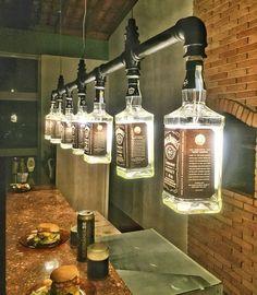Lustre Industrial de garrafas Jack Daniel's