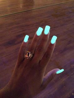 nail polish glow nail polish glow in the dark blue neon yellowi nails light pretty party make up nail accessories glow in the dark nails fake nails Sexy Nails, Fancy Nails, Cute Nails, Pretty Nails, Stiletto Nails, Manicure Gel, Glow Nails, Dark Nails, Light Nails