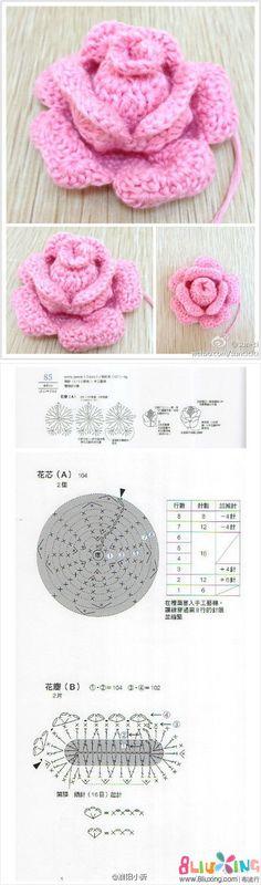 图解 钩针 立体 花朵 玫瑰花.jpg