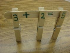 Fun and hands on activity to practice basic math problems. This could be used with bigger numbers as well as with subtraction, division or multiplication. -Kayla Gavigan