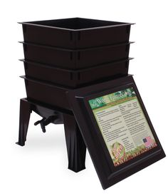 I just LOVE my worm condo.  It is easy, clean, no mess or smell.  I have happy worms that eat my garbage and make great soil for the yard and garden.  Great project for kids or teachers to use in classrooms.