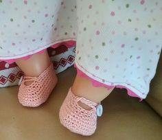 Shoes for dolls - Scarpine all'uncinetto per bambole