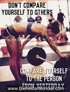 No te compares con otros... Comparate con... Tu version anterior ! #fitness   #gym  #workout  #weightloss  #nutrition  #fatloss