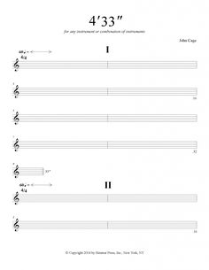 """John Cage's 4'33"""" is known as the silent composition. How is this topic relevant in modern music: read this blog and discuss with your students."""