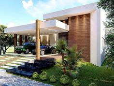 Single Floor House Design, Best Modern House Design, Future House, My House, Exterior Blinds, Modern Bungalow, Luxury Homes Dream Houses, New Home Designs, Facade House