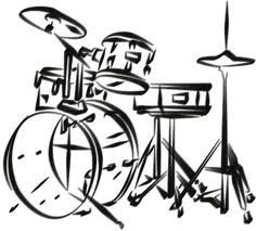 the beat is in the drums