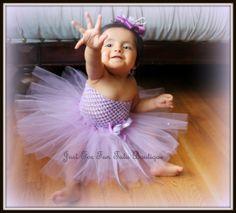 Lilac Baby tutu dress Baby dress hand made Baby by Justforfuntutu