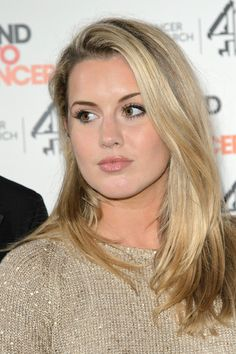 Caggie Dunlops eyes are popping and her skin is extremely dewy