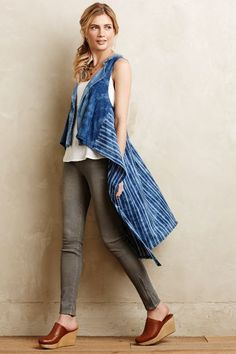 Indigo Sweeper Vest #Anthropologie