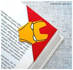 Iron Man corner bookmark by maliksbureau on Etsy, €2.20