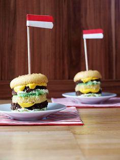 Sugar Stories: Big Mac Miniature Cakes (aus: http://www.sugar-stories.com/)