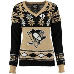 Pittsburgh Penguins Women's Ugly Sweater - Black