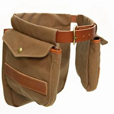 89e0c63e750 White Wing Waxed Canvas   Leather Game Bird Bags with Belt. Part  The White  Wing canvas and leather game bird belt in heavy-duty canvas and leather ...