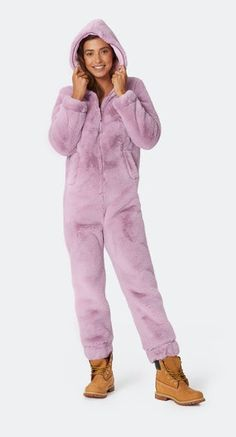 Womens Cute Sherpa Short Romper Fleece Onesie Pajama One Piece Zipper Short Hooded Cartoon Bear Ears Hooded Jumpsuit Sleepwear Playsuit