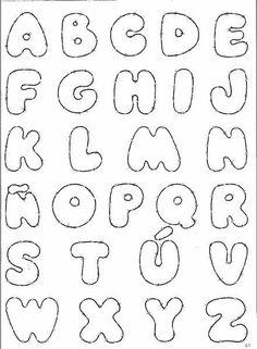 Resultado de imagen para moldes de letras para hacer en goma eva