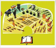 """""""Juega con la orquesta sinfónica y sus instrumentos"""" Music Activities, English Lessons, Musical, Art, Orchestra, Music Classroom, Teaching Resources, Instruments, Learning"""