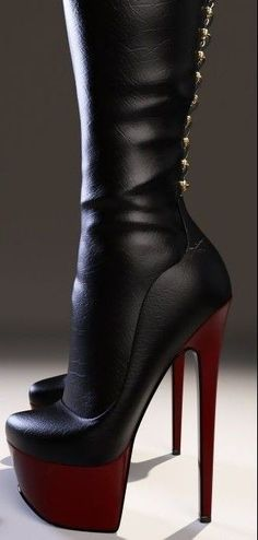 Girls in thigh high boots Thigh High Boots, High Heel Boots, Heeled Boots, Bootie Boots, Shoe Boots, Platform High Heels, Black High Heels, Black Boots, Dream Shoes