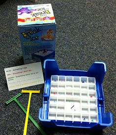 """Don't Break the Ice"" in play therapy. Already been using this. Attach different colored stickers to the bottom and use the colors to represent different questions, feelings words, etc..."