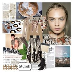 """""""Queen Cara"""" by iloveyoudd ❤ liked on Polyvore featuring Wall Pops!, Burberry, Aidan Gray, Equipment, Victoria Beckham, Causse, Alexander McQueen, DAY Birger et Mikkelsen, Givenchy and Aquazzura"""