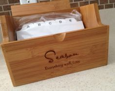 Recipe Box, Bridal Shower Guest Book, Personalized, Wedding Gift, Kitchen Party, Bamboo, Bridal Shower Gift, Wedding Gift, Recipe Box