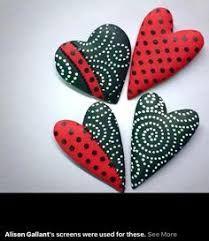 Resultado de imagen de hearts PAINTED ON ROCKS