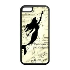 Amazon.com: CreateDesigned The Little Mermaid Disney Princess Ariel Case Cover for iPhone 5C (Cheap iPhone 5) SKU-I5CCD00167: Cell Phones & ...