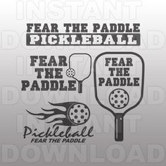 Pickleball SVG File,Fear the Paddle SVG File,Vector Art for Commercial & Personal Use-Cutting File for Cricut,Cameo,Silhouette,Vinyl,HTV