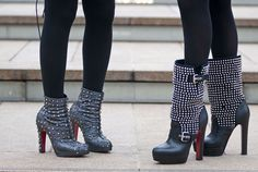 Matching studded Louboutins — it must be love.