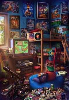 Childhood in the .- Die Kindheit in den Jahren. Childhood in the . Ps Wallpaper, Game Wallpaper Iphone, Retro Kunst, Retro Art, Retro Video Games, Video Game Art, Classic Video Games, Gaming Wallpapers, Animes Wallpapers