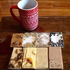 All natural homemade melt and pour soap recipes! This is just a sample of some of the soaps.